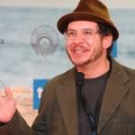 Aaron Wiederspahn speaking at the San Sebastian International Film Festival