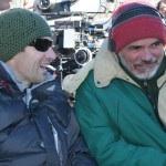 Producers Darren Moorman & Buzz McLaughlin consult during shoot