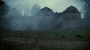 TSOS barn in fog