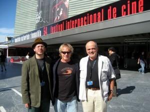 Aaron, Mark & me in front of the Kursaal