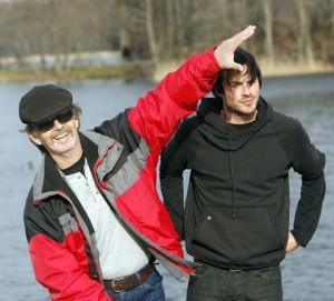 Robert and Ian Somerhalder in Lithuania