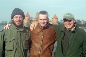 Aaron and me with Edvinas in Lithuania
