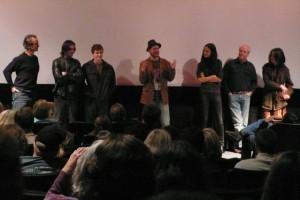Aaron with the actors (L-R): David Strathairn, Ian Somerhalder, Joe Mazzello, Elisabeth Waterston & Scott Wilsonwac